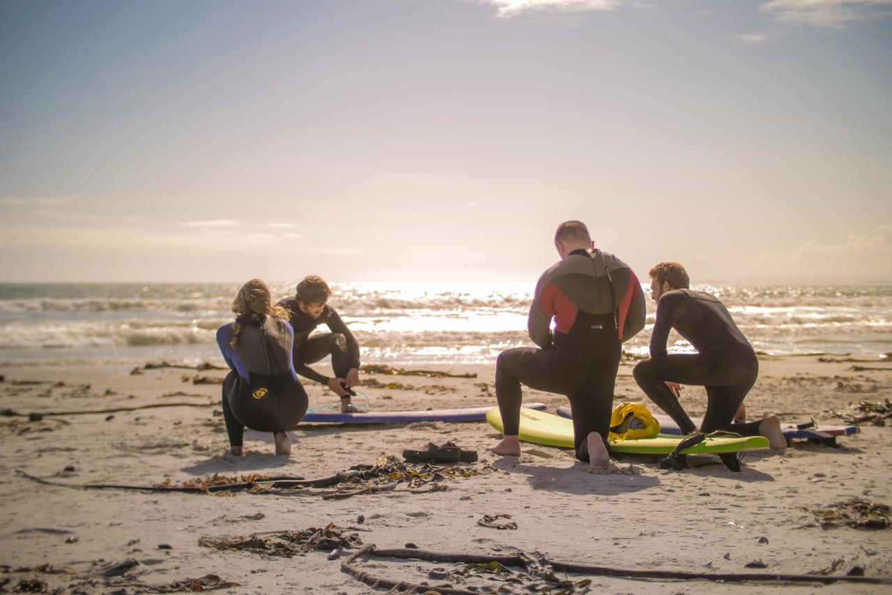 private surf lesson cape town saffa tours retreat